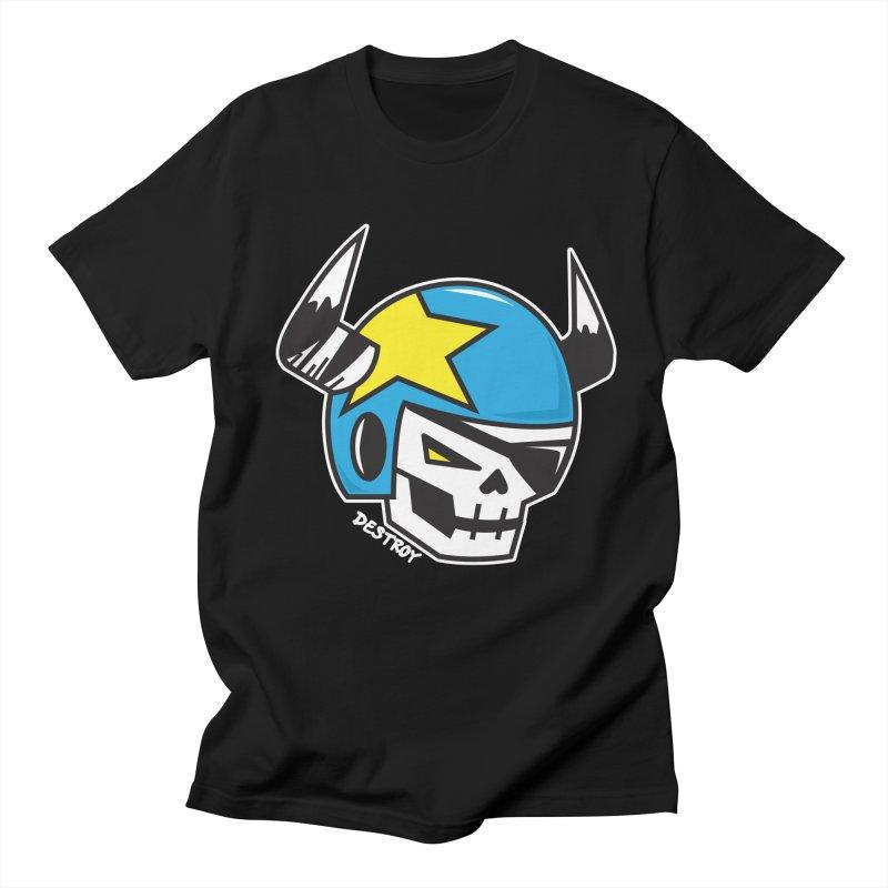 STUNT SKULL (CLASSIC) Men's Regular T-Shirt by SergAndDestroy's Artist Shop