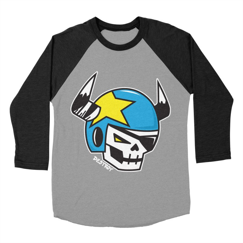 STUNT SKULL (CLASSIC) Men's Baseball Triblend Longsleeve T-Shirt by SergAndDestroy's Artist Shop