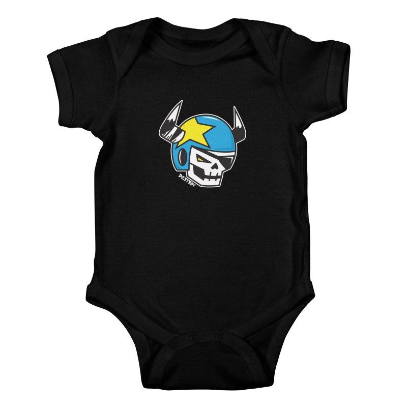 STUNT SKULL (CLASSIC) Kids Baby Bodysuit by SergAndDestroy's Artist Shop