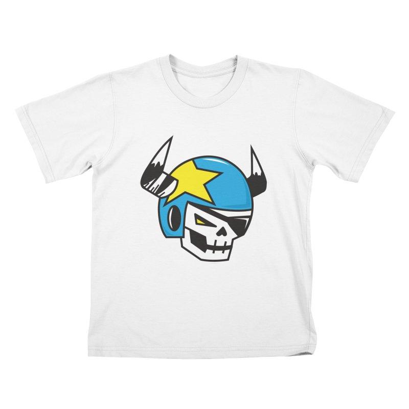 STUNT SKULL (CLASSIC) Kids T-Shirt by SergAndDestroy's Artist Shop