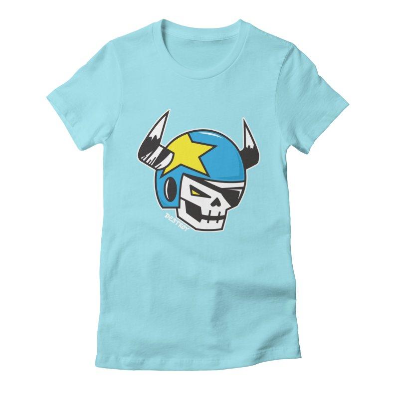 STUNT SKULL (CLASSIC) Women's Fitted T-Shirt by SergAndDestroy's Artist Shop