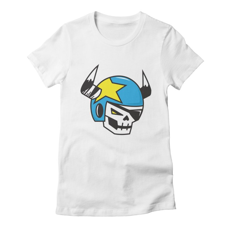 STUNT SKULL (CLASSIC) Women's Fitted T-Shirt by SergAndDestroy's Artist Shop