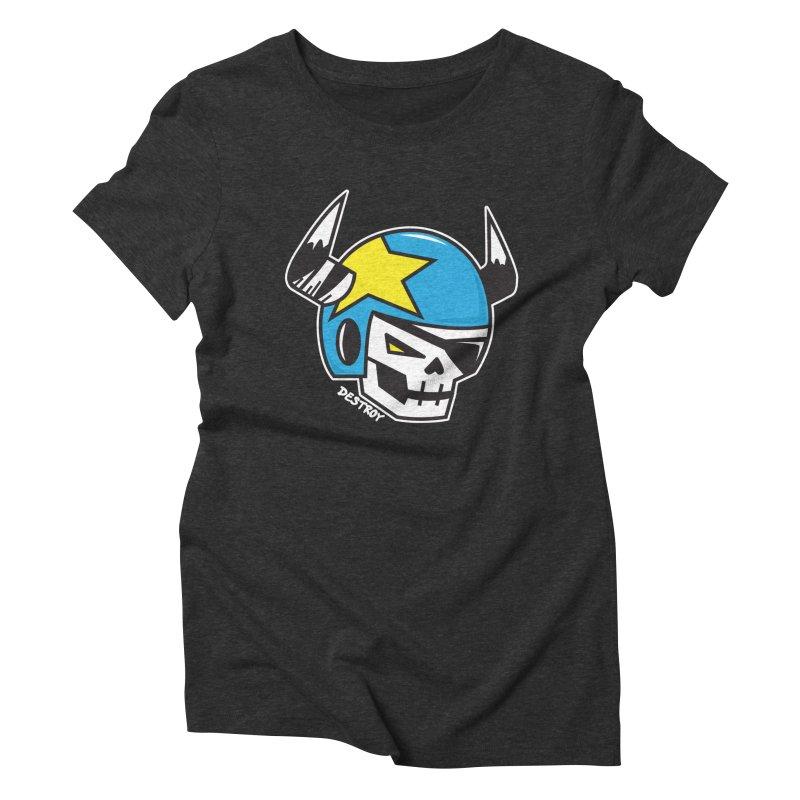 STUNT SKULL (CLASSIC) Women's Triblend T-Shirt by SergAndDestroy's Artist Shop