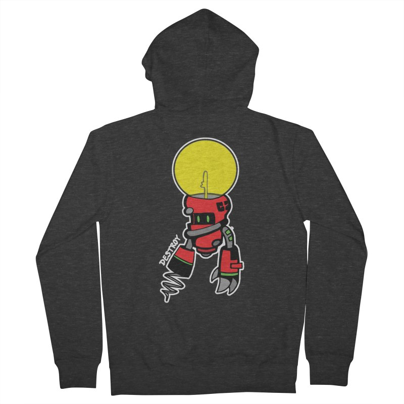 ENERGY VAMPIRE (RED) Men's French Terry Zip-Up Hoody by SergAndDestroy's Artist Shop