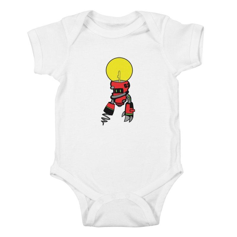 ENERGY VAMPIRE (RED) Kids Baby Bodysuit by SergAndDestroy's Artist Shop
