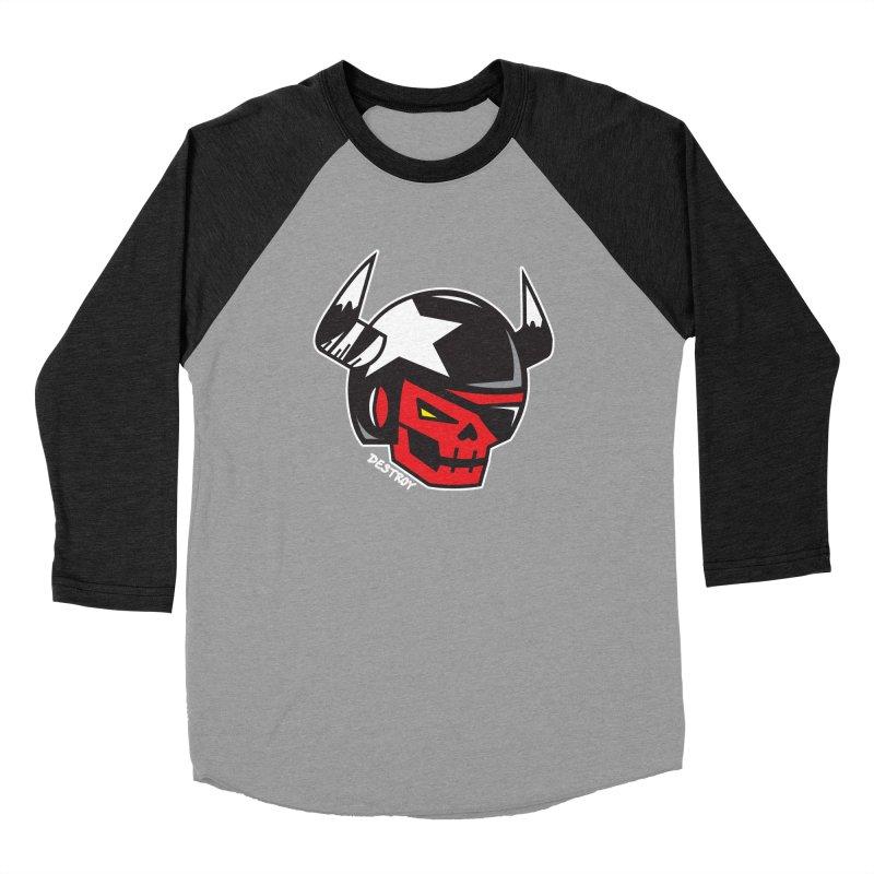StuntSkull (Red Skull Edition) Men's Longsleeve T-Shirt by SergAndDestroy's Artist Shop