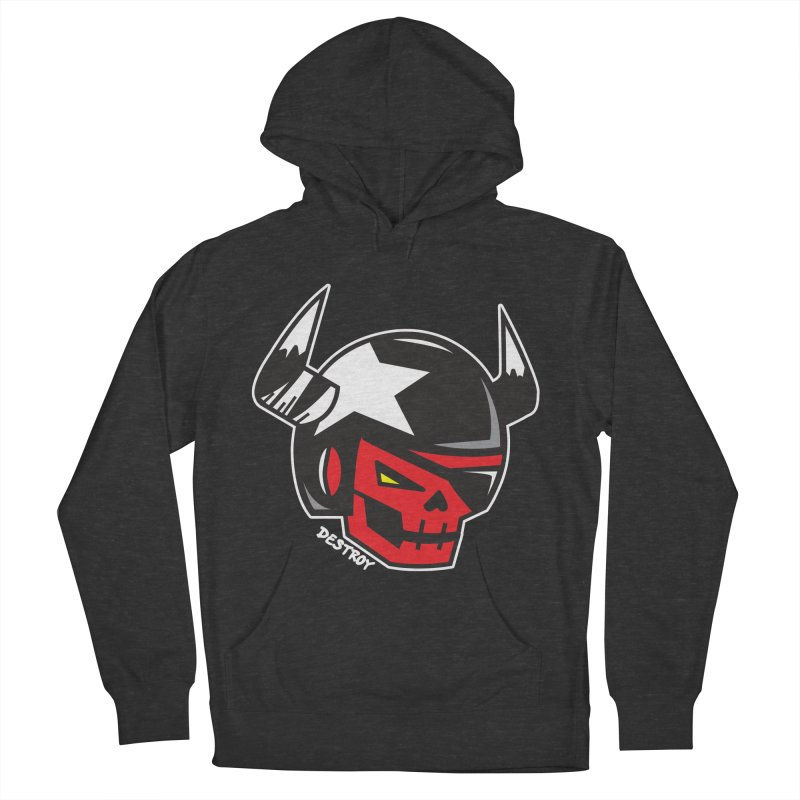 StuntSkull (Red Skull Edition) Women's French Terry Pullover Hoody by SergAndDestroy's Artist Shop