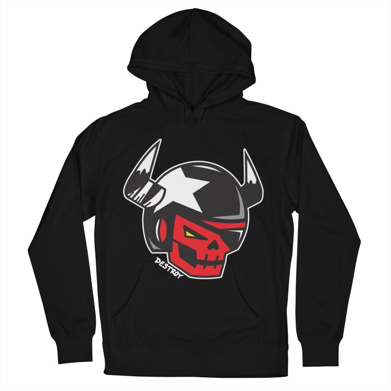 StuntSkull (Red Skull Edition) Men's French Terry Pullover Hoody by SergAndDestroy's Artist Shop