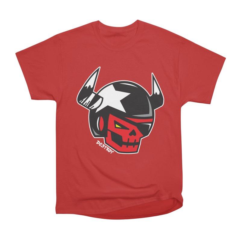 StuntSkull (Red Skull Edition) Women's Heavyweight Unisex T-Shirt by SergAndDestroy's Artist Shop