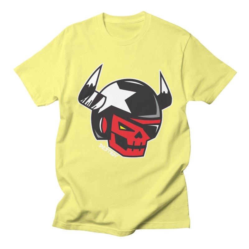 StuntSkull (Red Skull Edition) Men's Regular T-Shirt by SergAndDestroy's Artist Shop