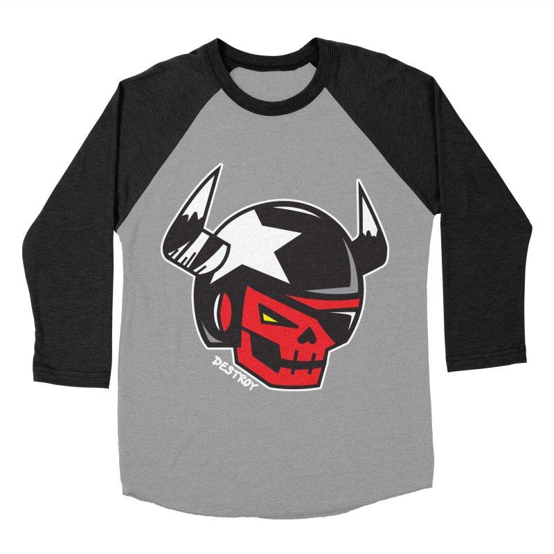 StuntSkull (Red Skull Edition) Men's Baseball Triblend Longsleeve T-Shirt by SergAndDestroy's Artist Shop