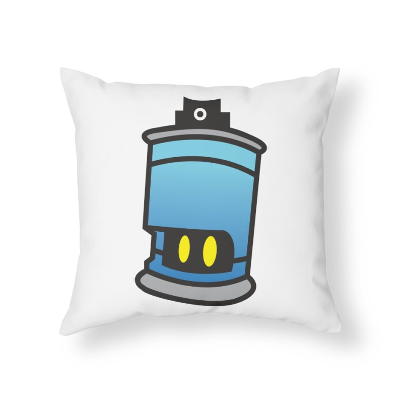 SPRAY CAN SAM Home Throw Pillow by SergAndDestroy's Artist Shop