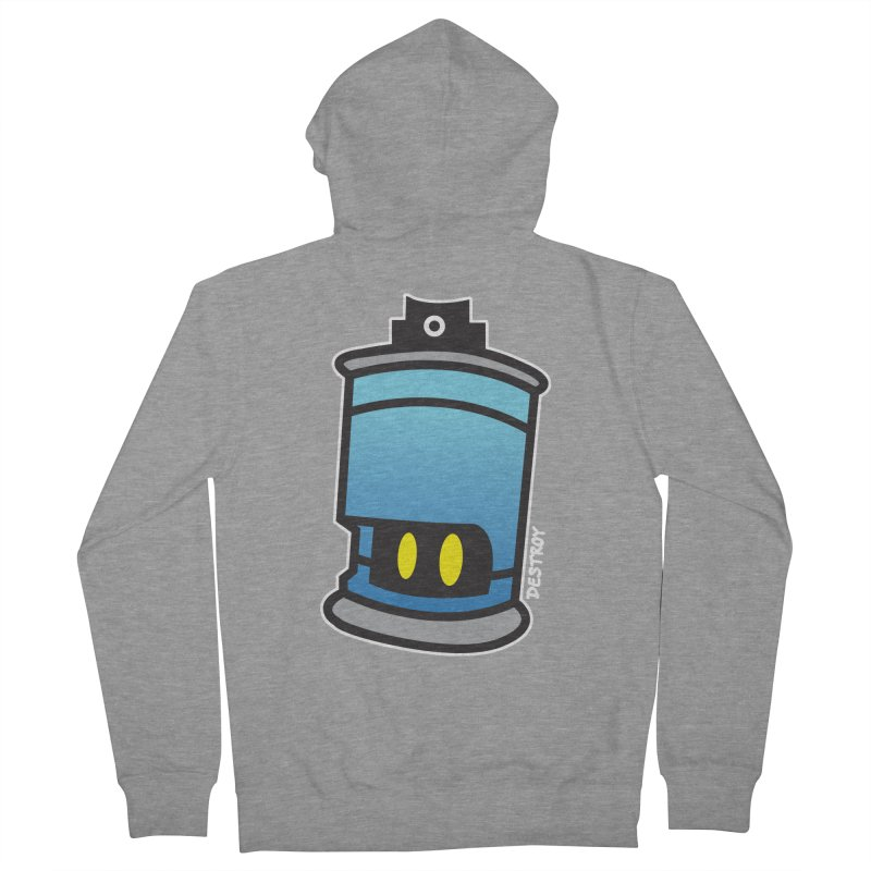 SPRAY CAN SAM Men's French Terry Zip-Up Hoody by SergAndDestroy's Artist Shop