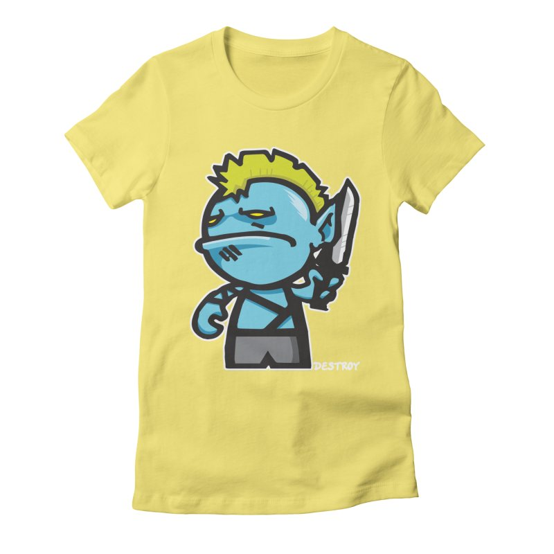 ORC HORDE TROOP Women's Fitted T-Shirt by SergAndDestroy's Artist Shop