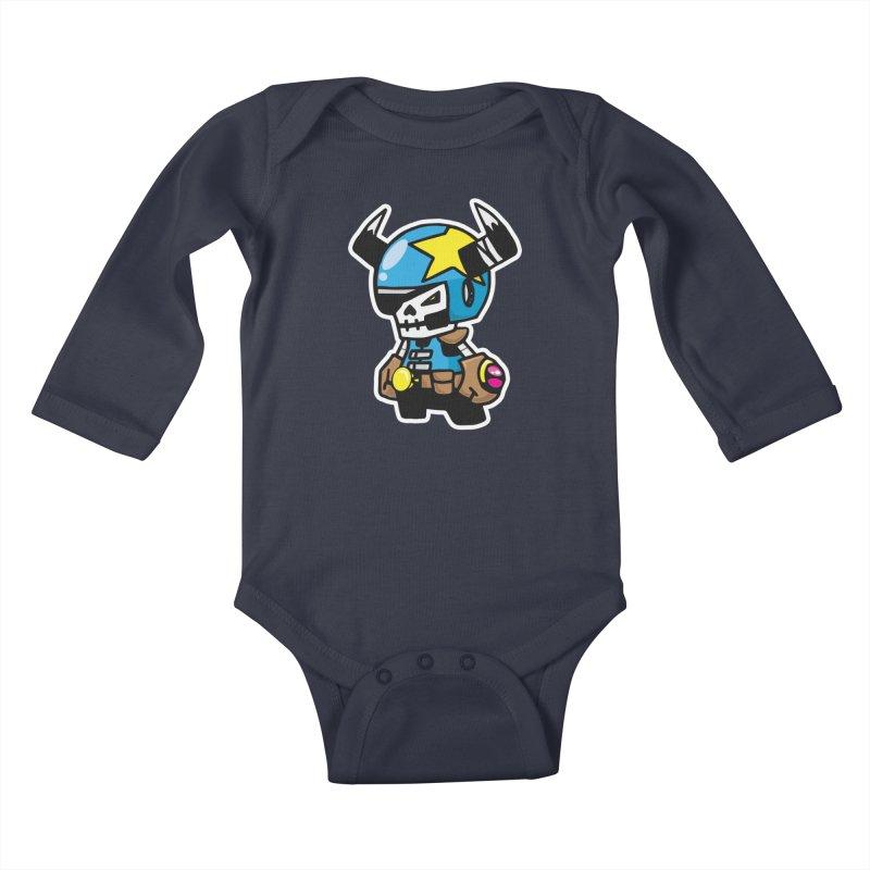 GALACTIC GAIKOTSU AKA GG Kids Baby Longsleeve Bodysuit by SergAndDestroy's Artist Shop