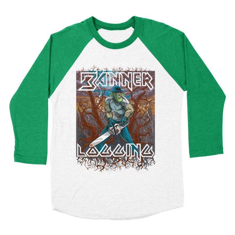 Banner Logging Women's Baseball Triblend T-Shirt by Seth Banner's Artist Shop