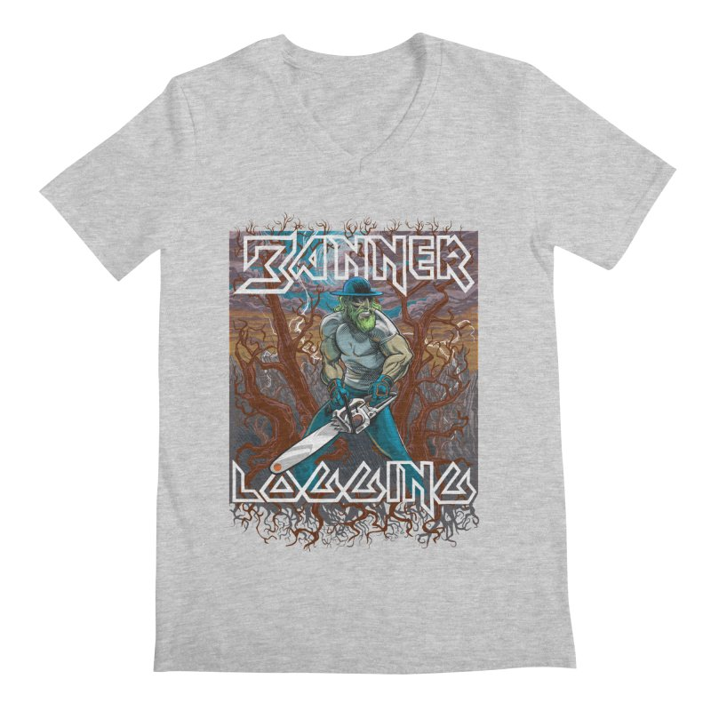 Banner Logging Men's V-Neck by Seth Banner's Artist Shop
