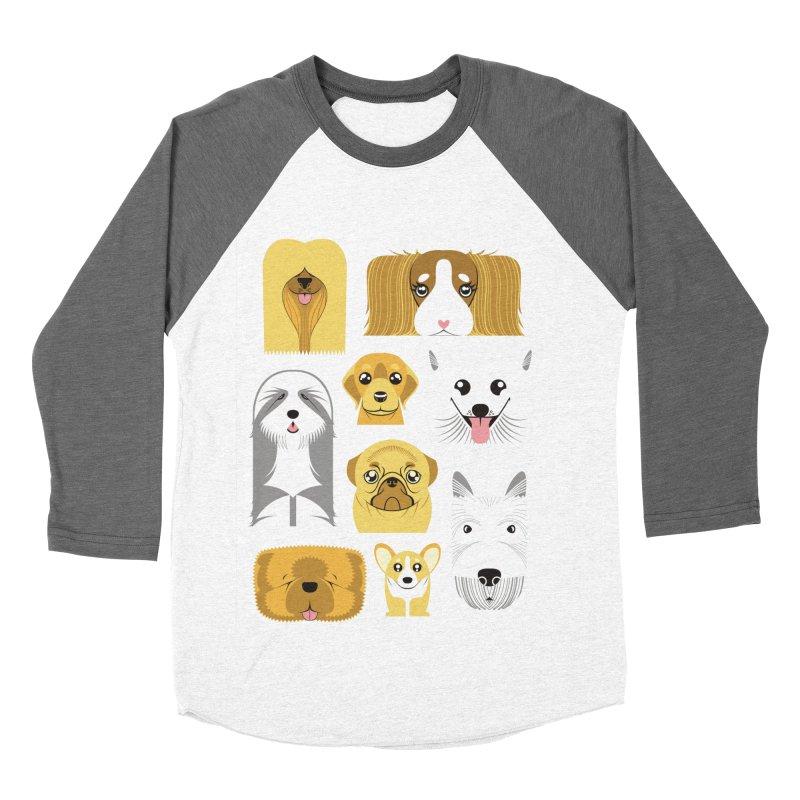 Puppies Women's Baseball Triblend T-Shirt by Seth Banner's Artist Shop