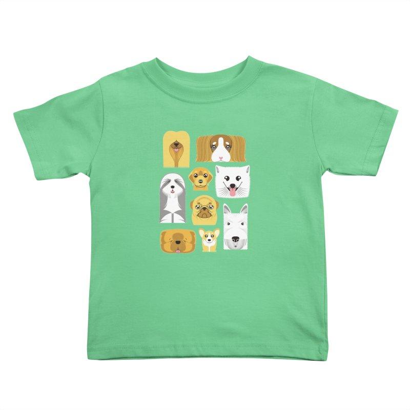 Puppies Kids Toddler T-Shirt by Seth Banner's Artist Shop