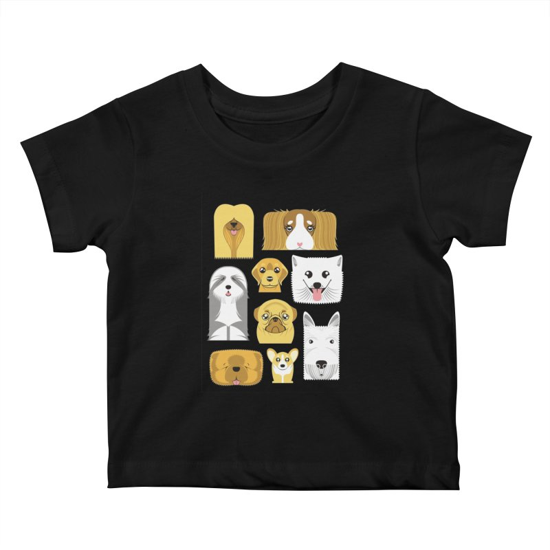 Puppies Kids Baby T-Shirt by Seth Banner's Artist Shop