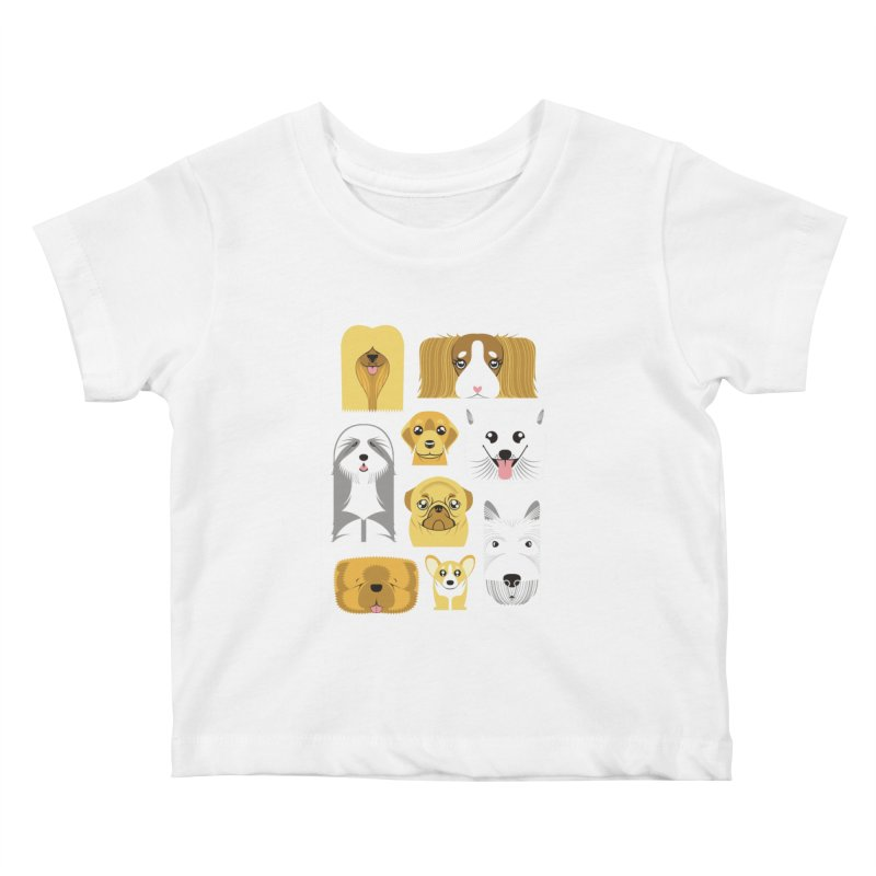 Puppies Kids Baby T-Shirt by Seth Banner's Artist Shop