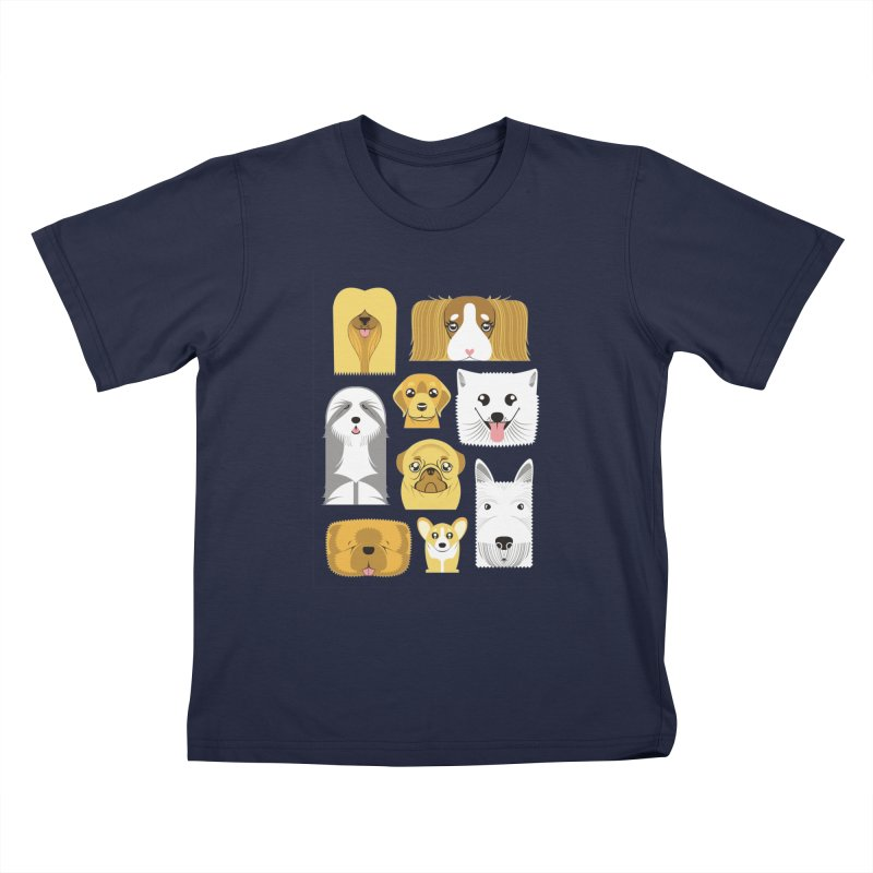 Puppies Kids T-shirt by Seth Banner's Artist Shop