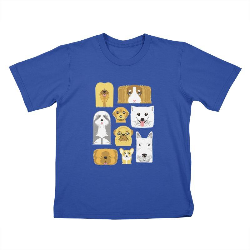 Puppies Kids T-shirt by Seth Banner's Artist Shop