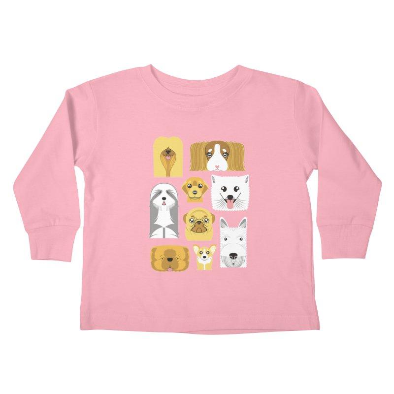Puppies Kids Toddler Longsleeve T-Shirt by Seth Banner's Artist Shop
