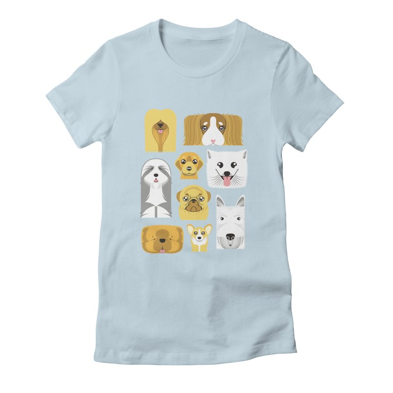 Puppies Women's Fitted T-Shirt by Seth Banner's Artist Shop