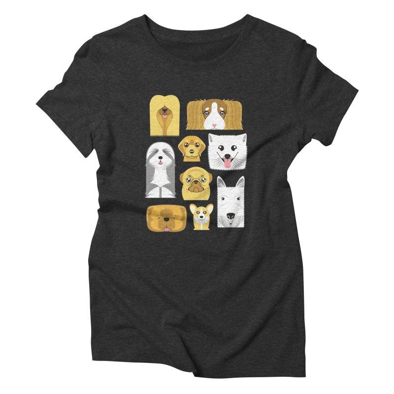 Puppies Women's Triblend T-Shirt by Seth Banner's Artist Shop