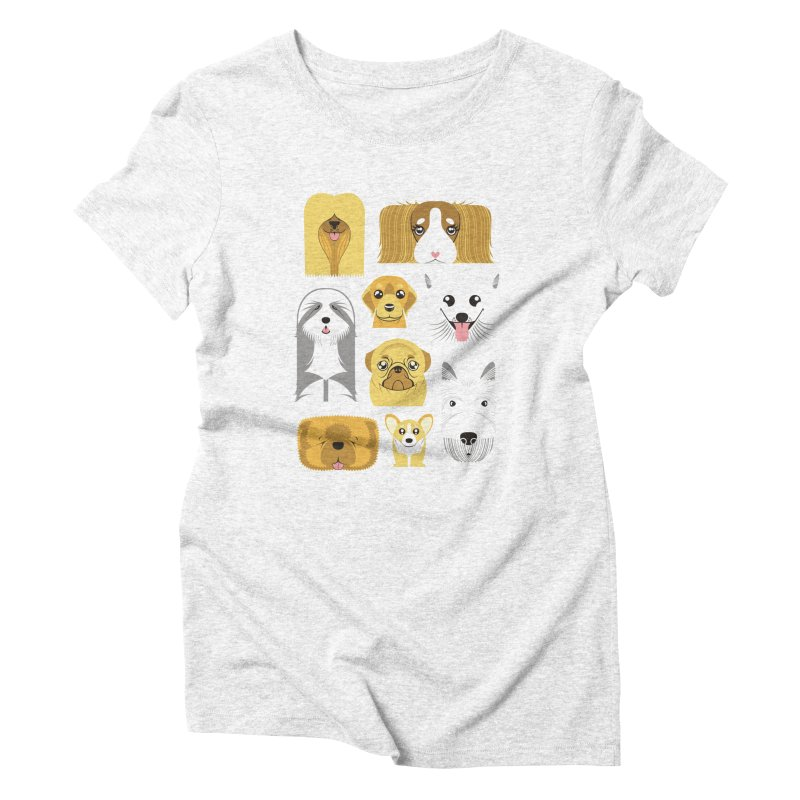 Puppies Women's Triblend T-shirt by Seth Banner's Artist Shop