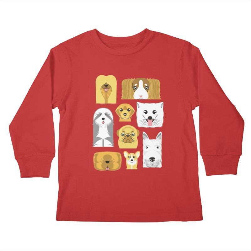 Puppies Kids Longsleeve T-Shirt by Seth Banner's Artist Shop