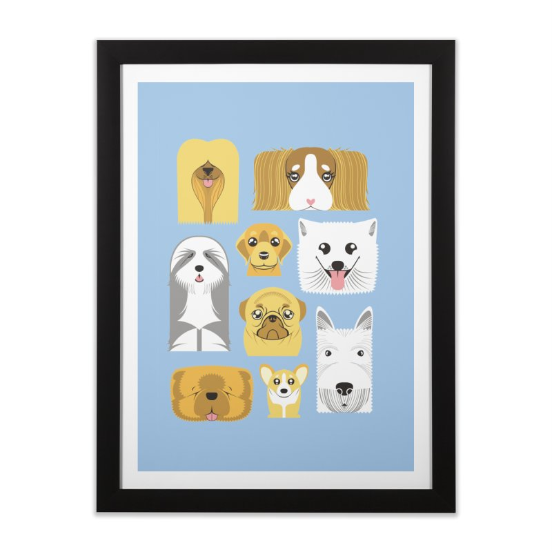 Puppies Home Framed Fine Art Print by Seth Banner's Artist Shop