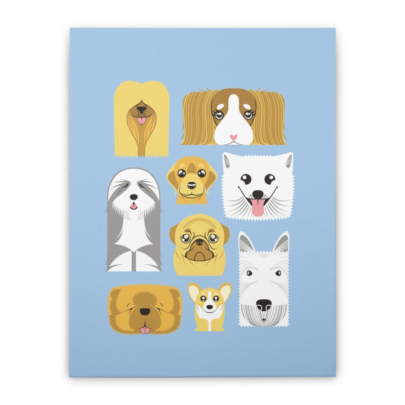 Puppies Home Stretched Canvas by Seth Banner's Artist Shop