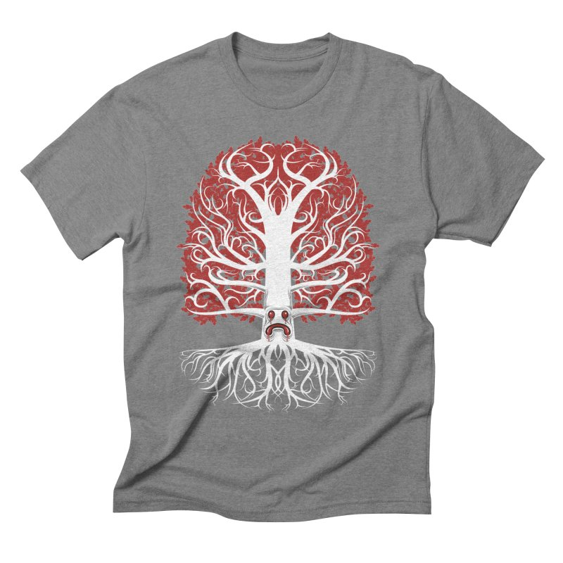 Heart Tree of the Gods' Wood Men's Triblend T-Shirt by Seth Banner's Artist Shop