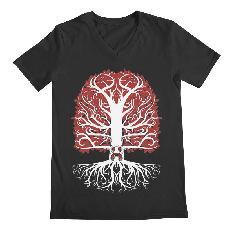 Heart Tree of the Gods' Wood Men's V-Neck by Seth Banner's Artist Shop
