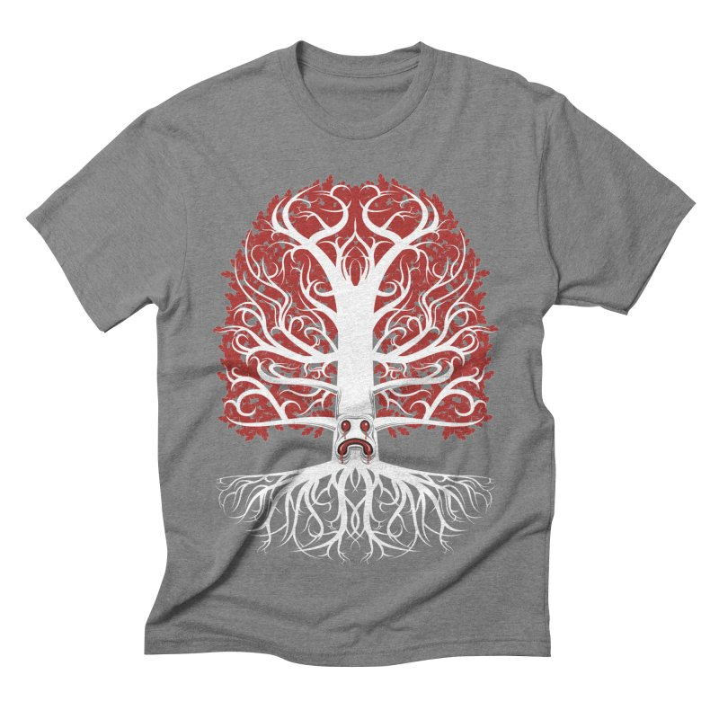 Heart Tree of the Gods' Wood in Men's Triblend T-shirt Grey Triblend by Seth Banner's Artist Shop