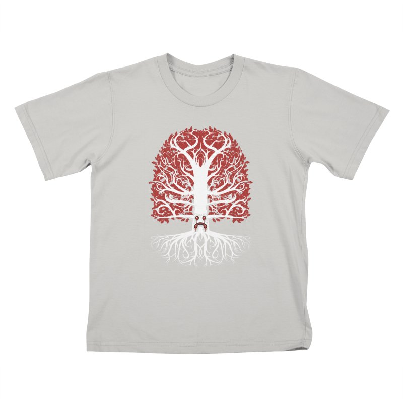 Heart Tree of the Gods' Wood Kids T-Shirt by Seth Banner's Artist Shop