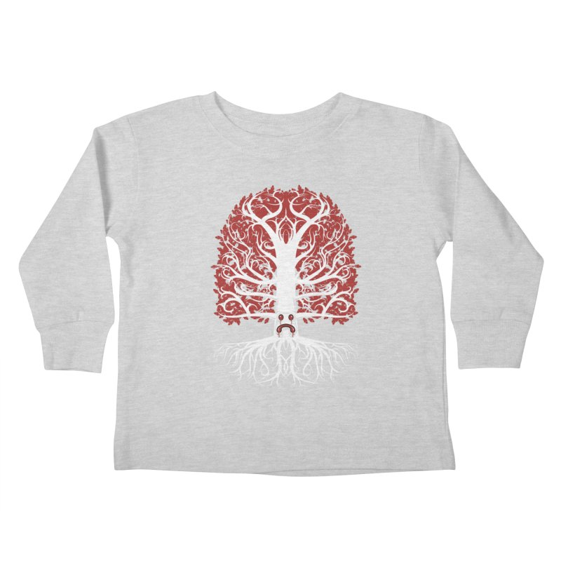 Heart Tree of the Gods' Wood Kids Toddler Longsleeve T-Shirt by Seth Banner's Artist Shop