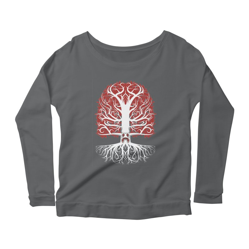 Heart Tree of the Gods' Wood Women's Longsleeve Scoopneck  by Seth Banner's Artist Shop
