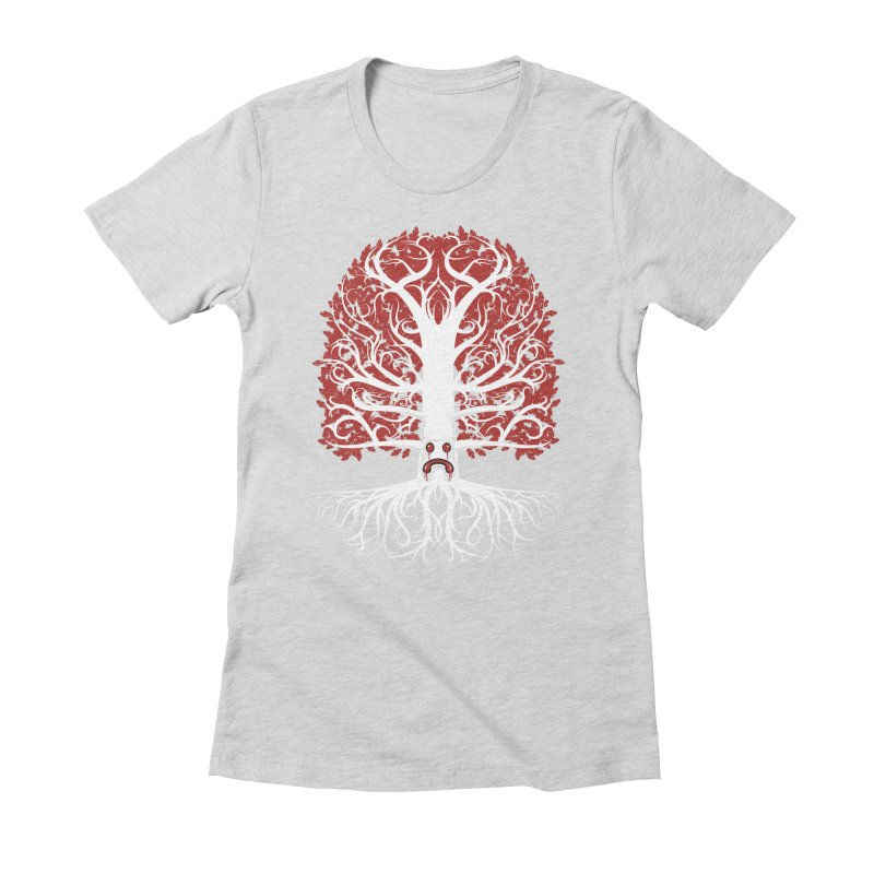 Heart Tree of the Gods' Wood Women's Fitted T-Shirt by Seth Banner's Artist Shop