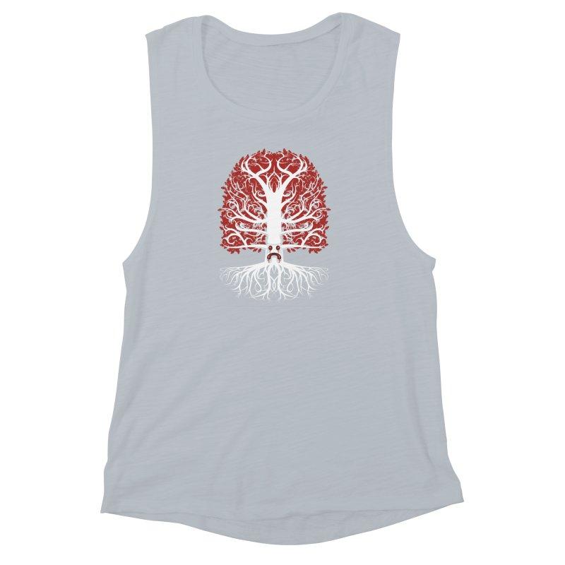 Heart Tree of the Gods' Wood Women's Muscle Tank by Seth Banner's Artist Shop