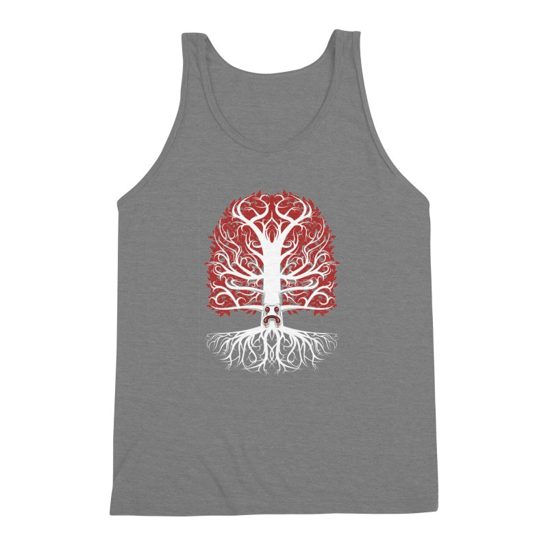 Heart Tree of the Gods' Wood Men's Triblend Tank by Seth Banner's Artist Shop
