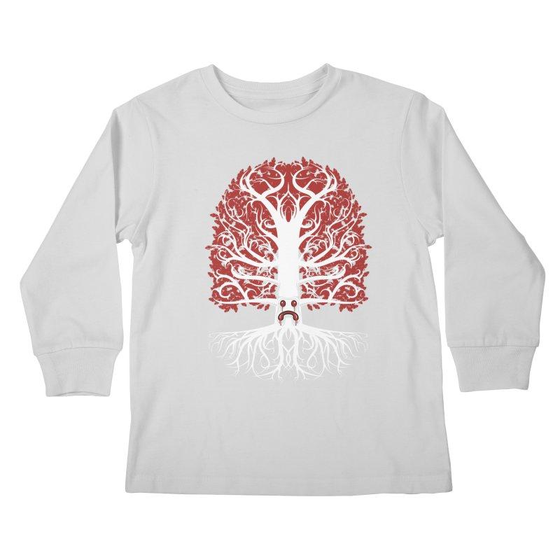 Heart Tree of the Gods' Wood Kids Longsleeve T-Shirt by Seth Banner's Artist Shop