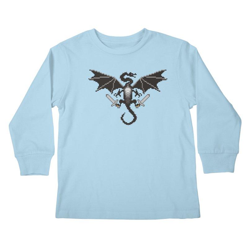 Ender Dragon Kids Longsleeve T-Shirt by Seth Banner's Artist Shop