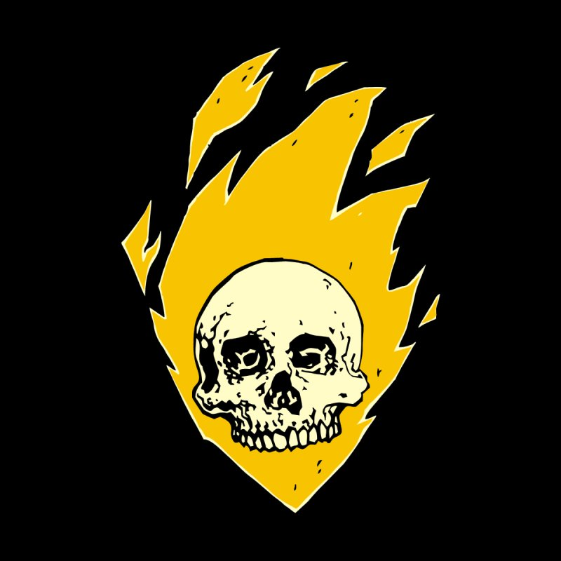 Flaming skull Women's Baseball Triblend T-Shirt by Seth Banner's Artist Shop