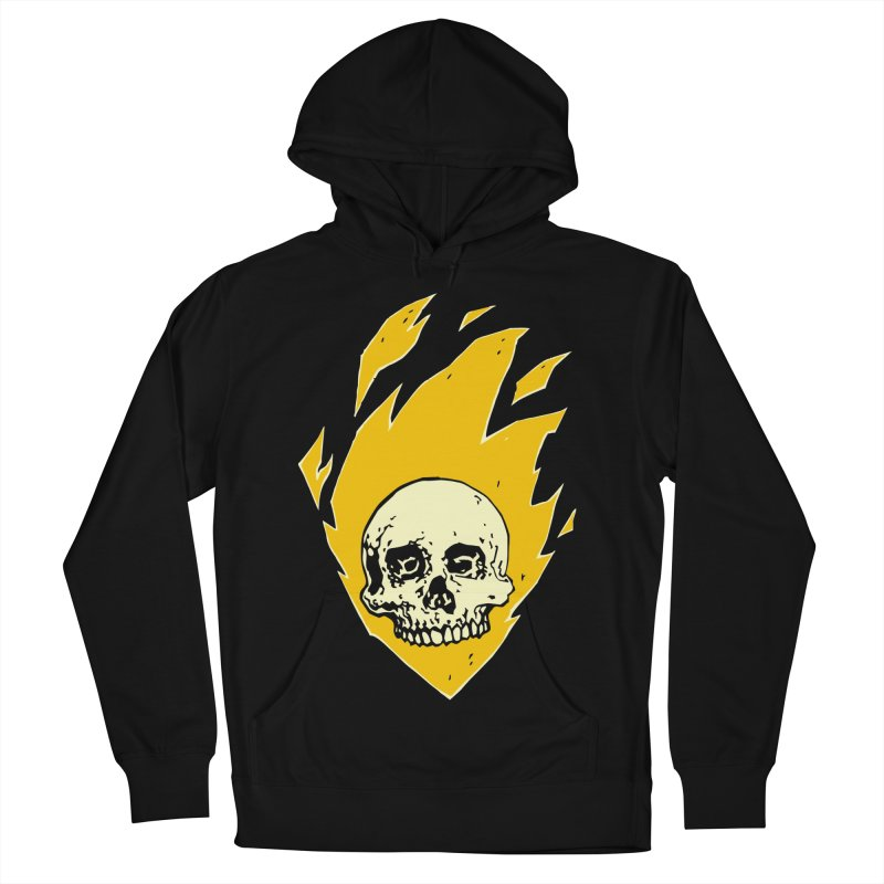 Flaming skull Women's Pullover Hoody by Seth Banner's Artist Shop