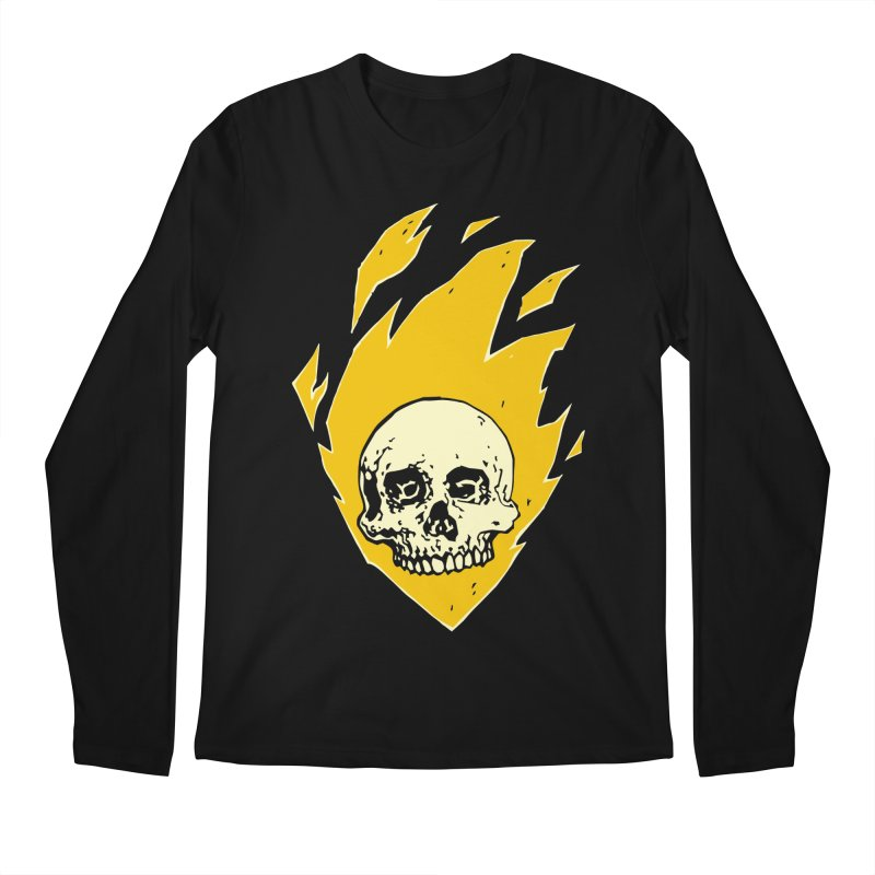 Flaming skull Men's Longsleeve T-Shirt by Seth Banner's Artist Shop