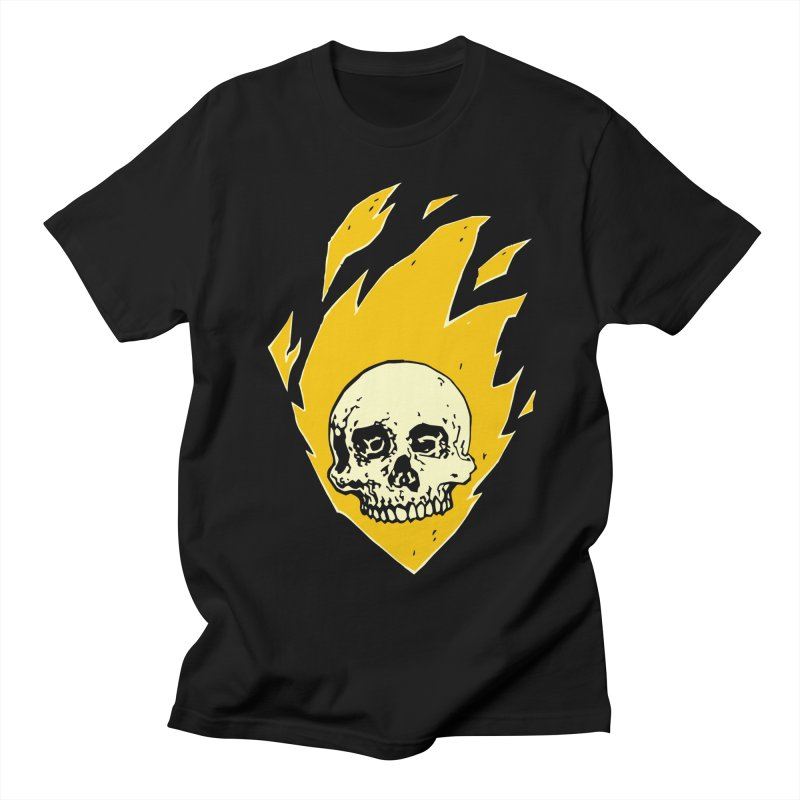 Flaming skull Men's T-Shirt by Seth Banner's Artist Shop