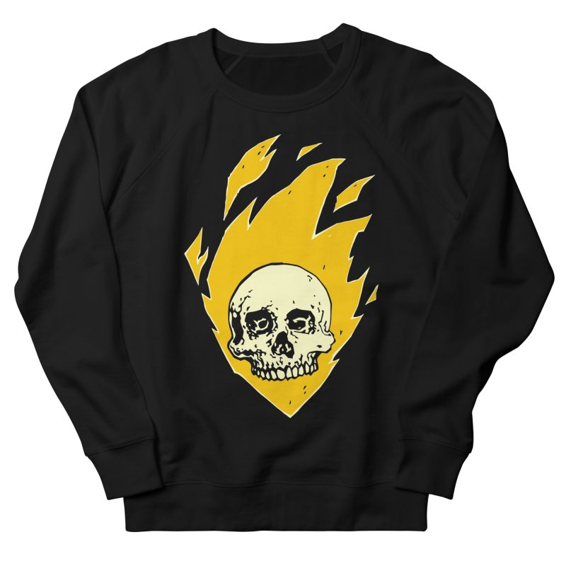 Flaming skull Men's Sweatshirt by Seth Banner's Artist Shop
